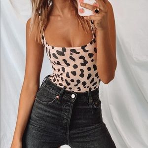 Princess polly Anafi Leopard bodysuit